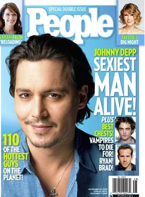 People Magzine Names Johnny Depp Sexiest Man Alive 2009