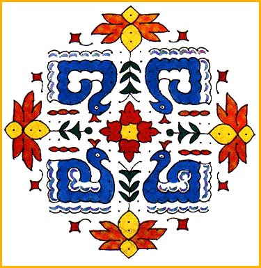 Diwali Rangoli Design Patterns : Deepavali Rangoli Decoration Ideas