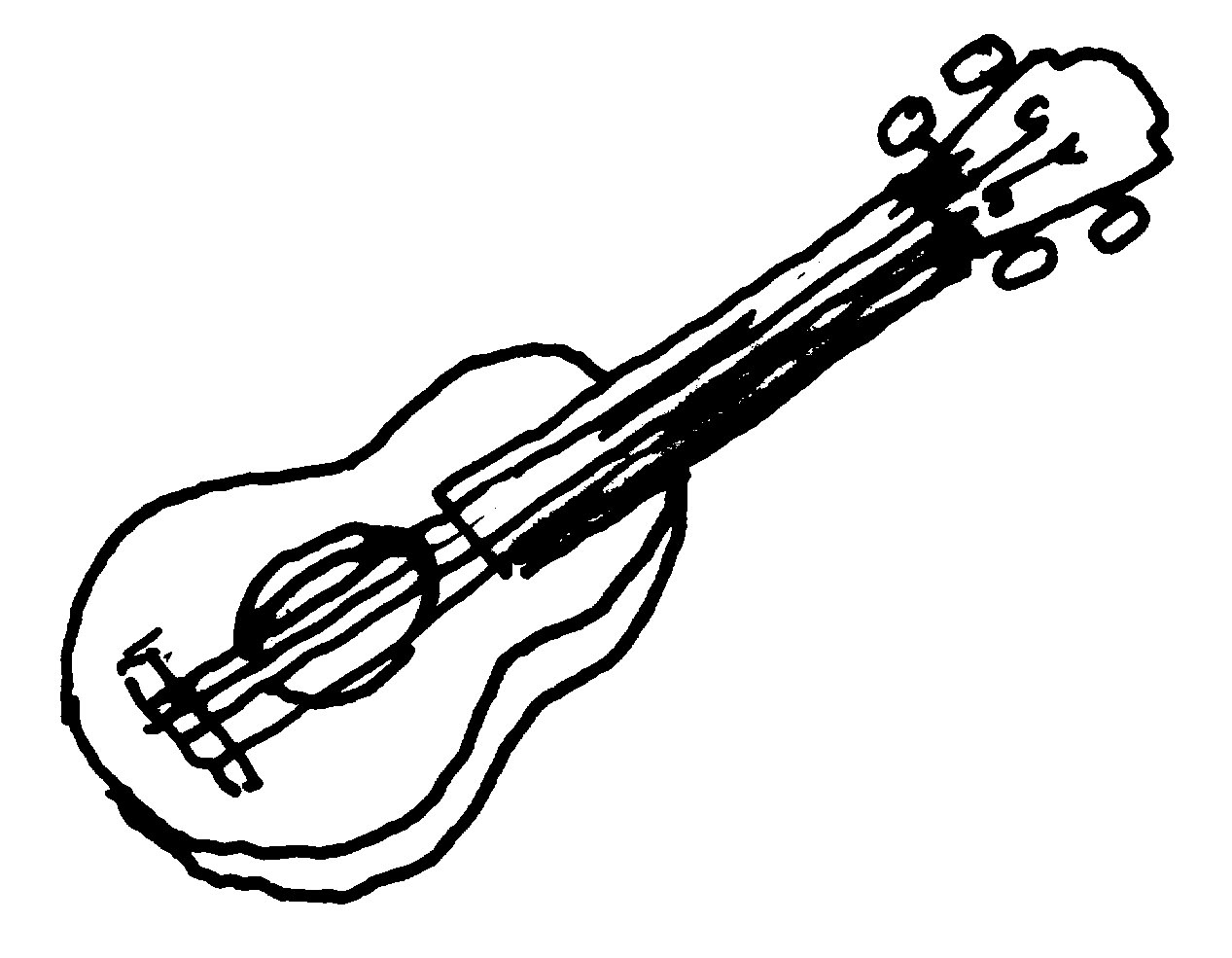 free music instruments guitar clipart