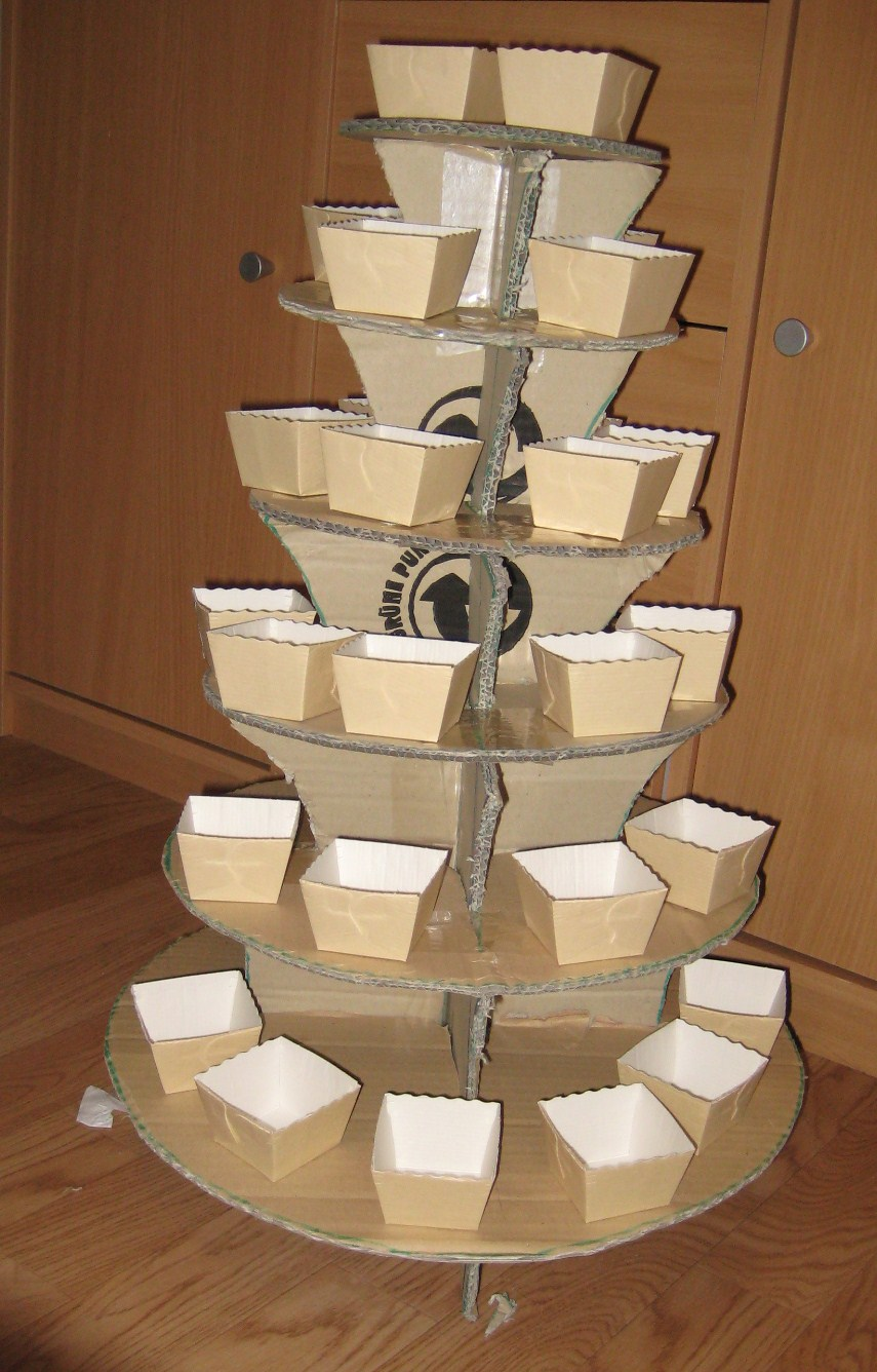 thescrapbookfan homemade cupcake stand. Black Bedroom Furniture Sets. Home Design Ideas