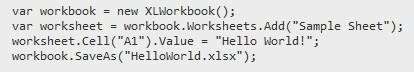 Excel ClosedXML