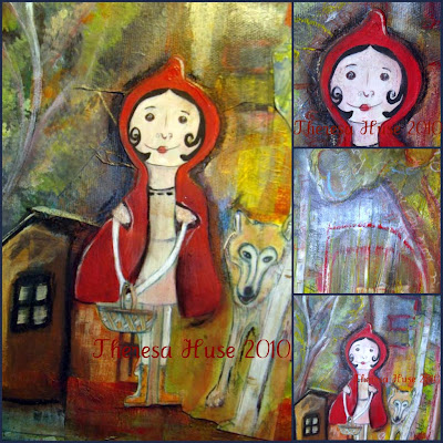 Little Red Riding Hood Mixed Media Painting & Illustration