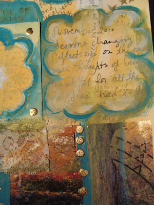 close up journal page