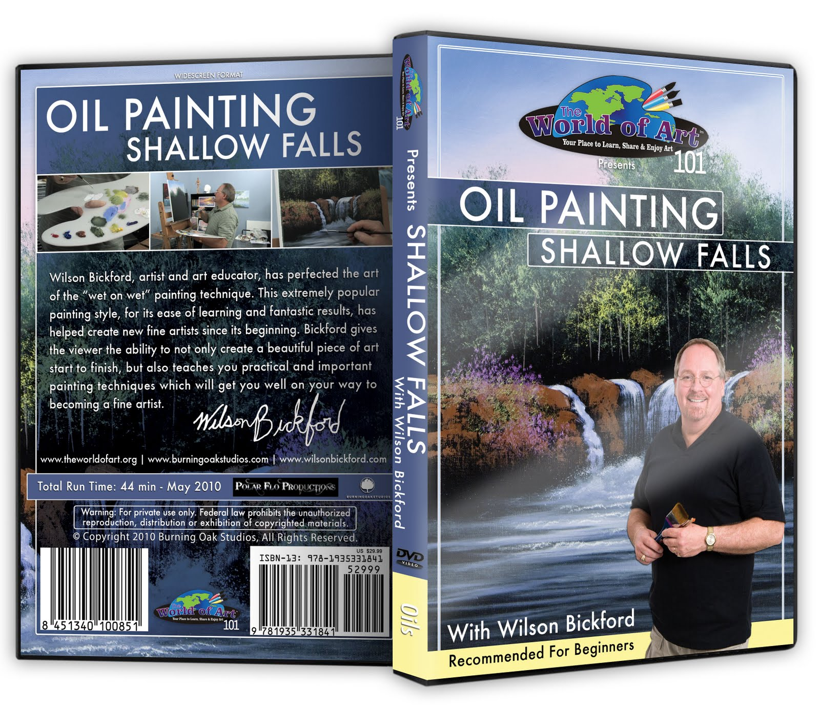 Artist life new dvd release shallow falls for Oil painting lessons near me