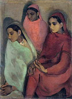 Painting by Amrita Sher-Gill