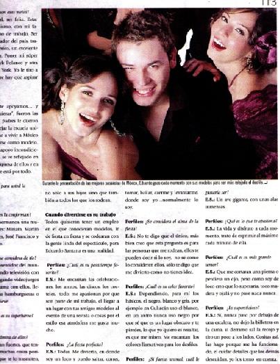 Portadas y entrevistas eduardo santana santana modelos for Salon myriam k