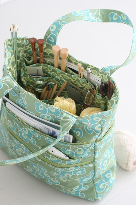 Knitting Bag Pattern To Sew : Angela Yosten: Amy Butler Bags and a GIVEAWAY!!!