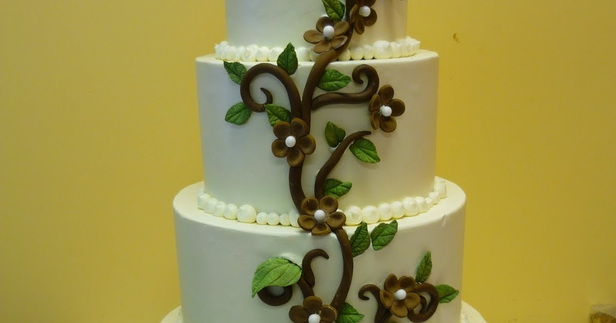 Artisan Bake Shop: Calla Lillies & Vine Wedding Cake @ Marion Road ...
