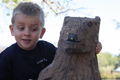 Easton and his friend at the Zoo