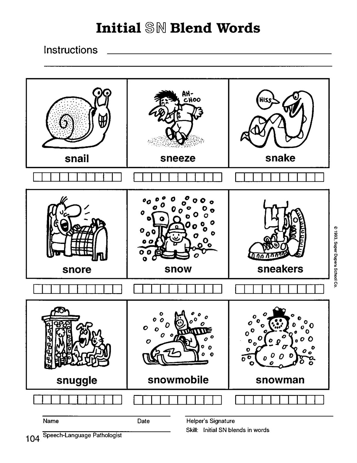 worksheet S Blends Worksheet speech therapy with miss nicole s blend words monday january 31 2011