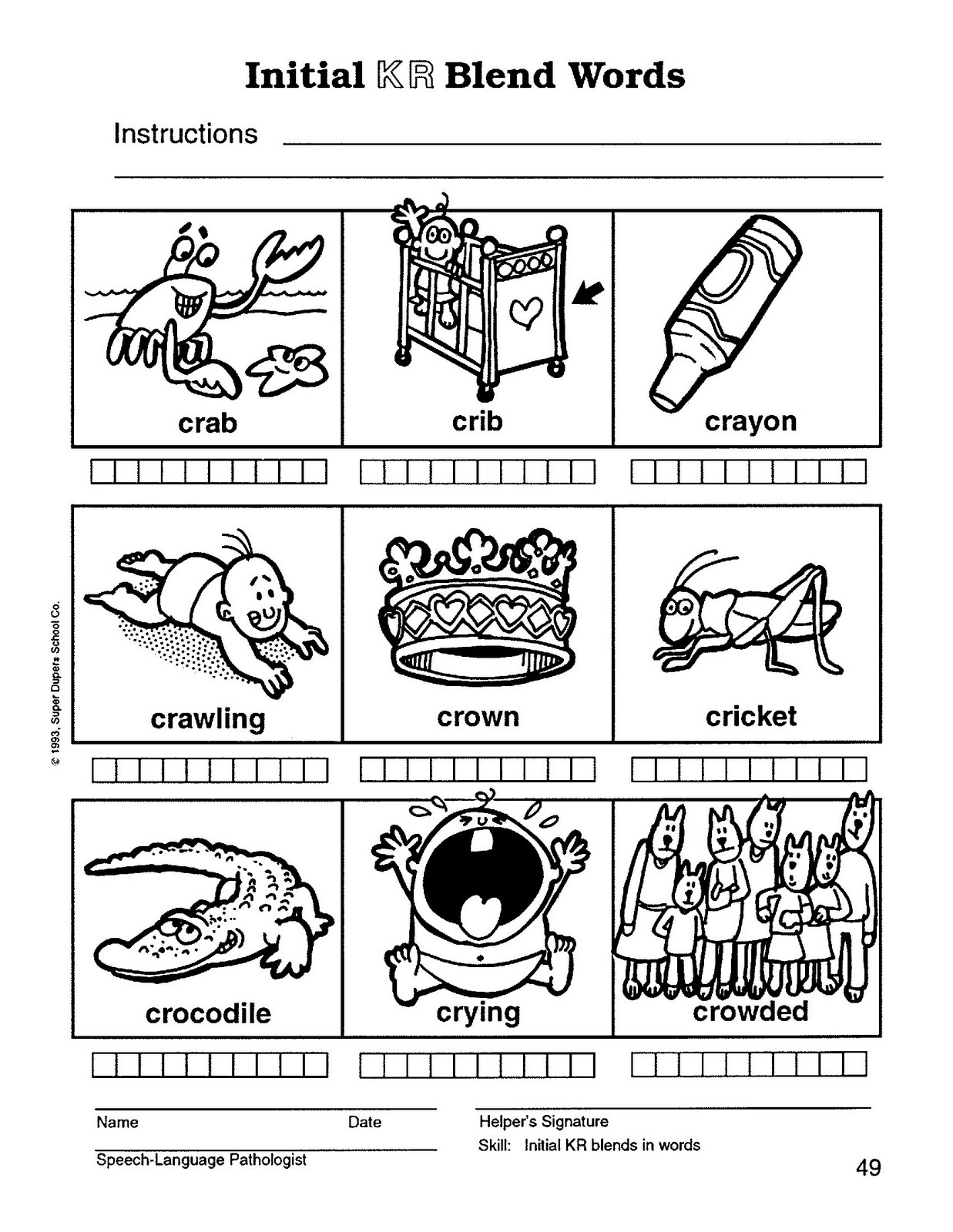 R blends worksheets free