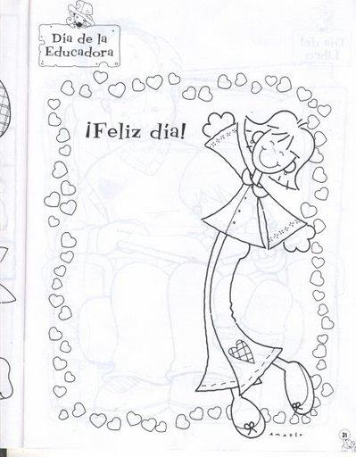 Dibujos Para Colorear De La Maestra