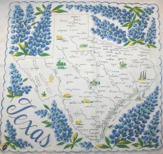 texas map blue bonnets