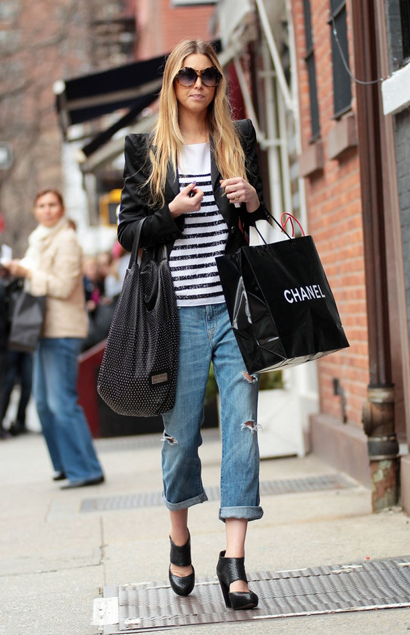 Tirana Street Style - Adele: Denim and Stripes ~ Albania ...