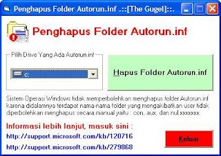 Cara Menghapus Folder Autorun.inf (Con, Aux, Null)