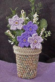 crochet violet basket