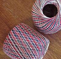crochet flower patriotic color magnet