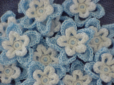 Colorado Blue Columbine Crocheted Flower