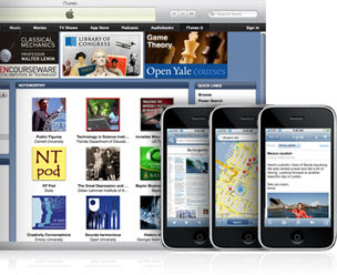 Picture of iTunes U Website