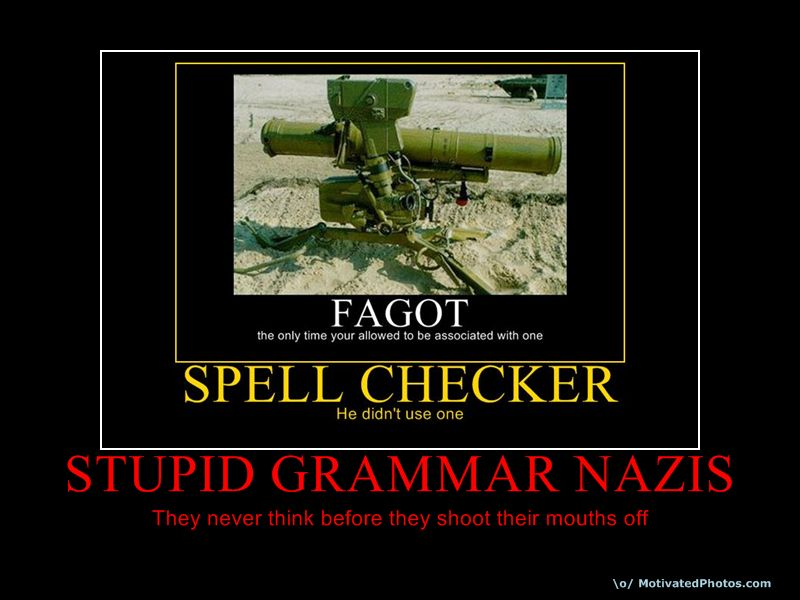 Stupid Grammar Nazis