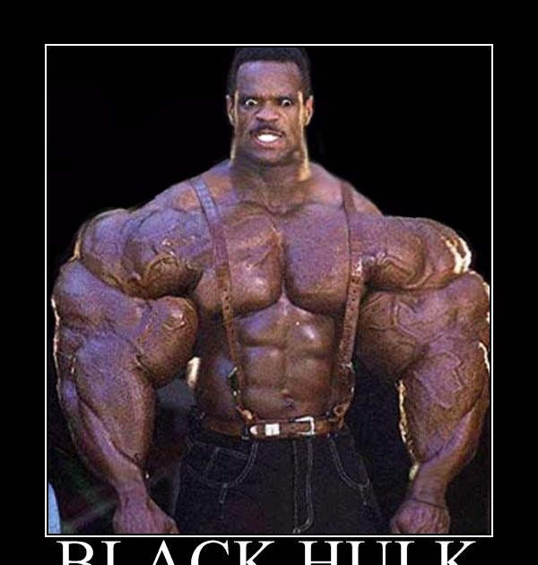 phoolish   black hulk   motivational poster