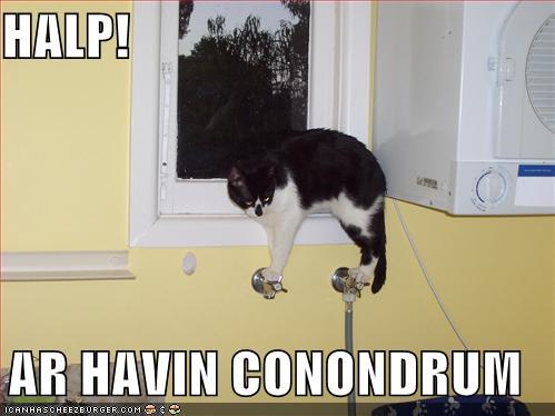HALP! AR HAVIN CONONDRUM