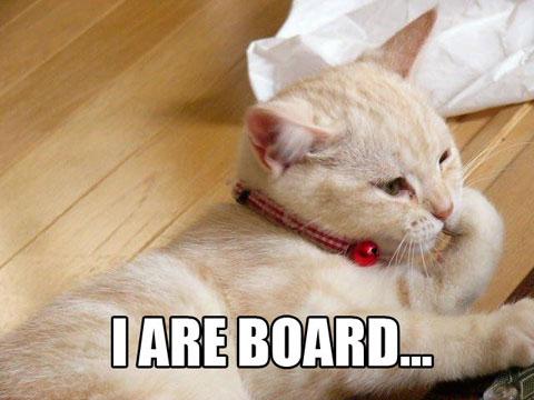 I ARE BOARD...