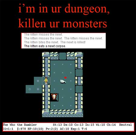 i'm in ur dungeon, killen ur monsters