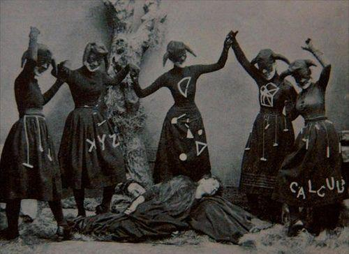 Old Timey Witches Rejoicing Over Two Fallen Women