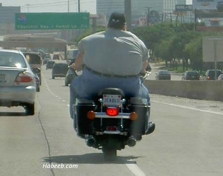 Wide Motorcycle Rider