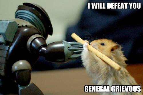 I WILL DEFEAT YOU GENERAL GRIEVOUS