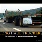 LONG HAUL TRUCKERS - Motivational Poster