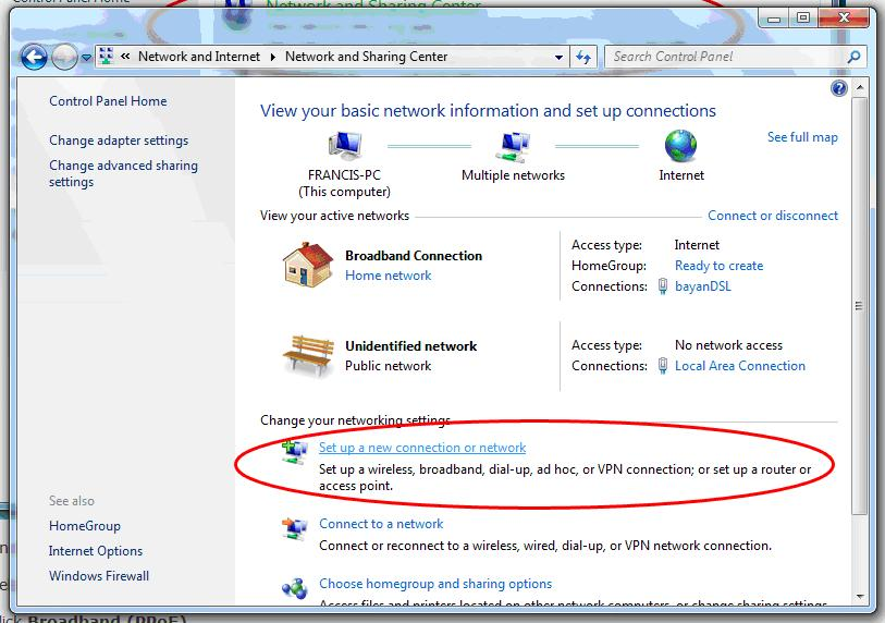 how to create pppoe connection in windows 8
