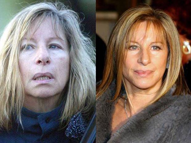 Cantora Barbra Streisand SEM MAQUIAGEM