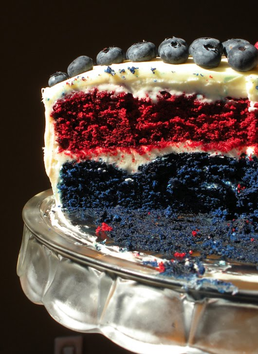 WHISK AWAY: Red and Blue Velvet Cake