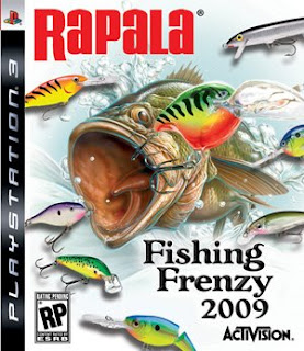 Rapala Fishing Frenzy 2009 Sony Playstation 3 Box Art