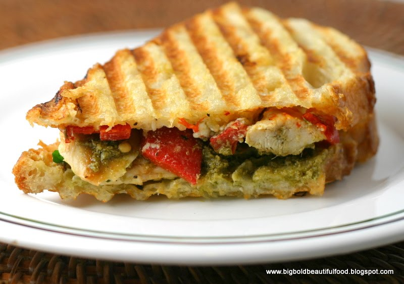Bold, Beautiful Food: Grilled Chicken Panini with Roasted Red Peppers ...