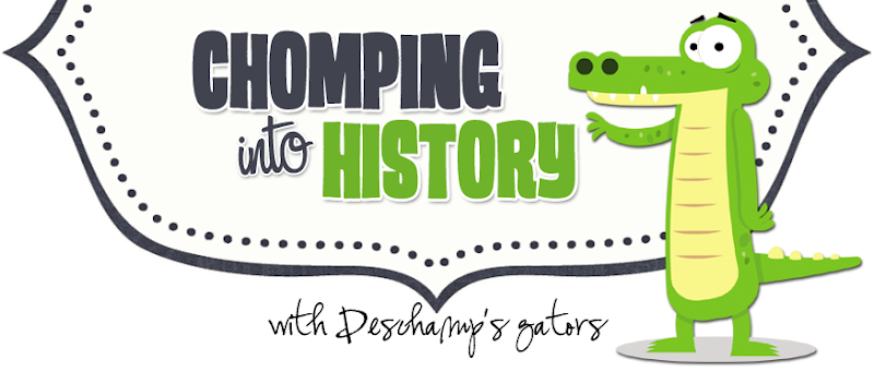 Chomping into History Blog Design