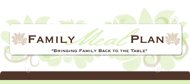 Family Meal Plan Blog Design