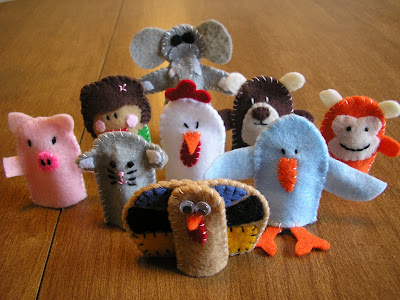 finger puppet army