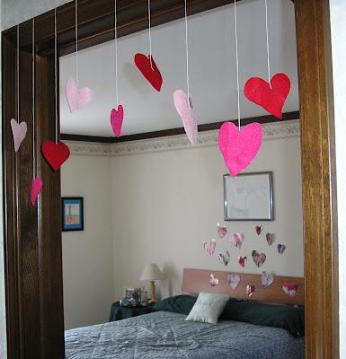 felt heart doorway