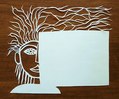 Half of Face Paper Cutting Stationery