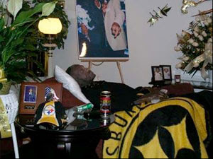 The forward describes a Steelers fanu0027s funeral arrangement complete with favorite recliner black and gold pajamas Steeler highlights ...  sc 1 st  Didnu0027t Know Yesterday - blogger : steelers recliner - islam-shia.org