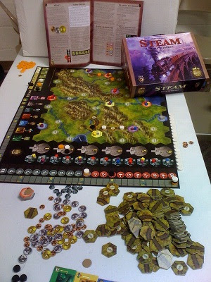 Steam Rail to Riches game in play