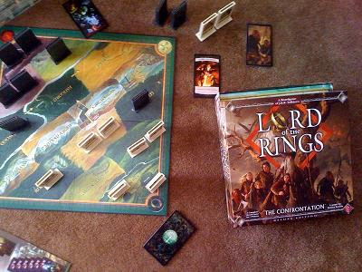 Lord of the Rings the Confrontation game in play