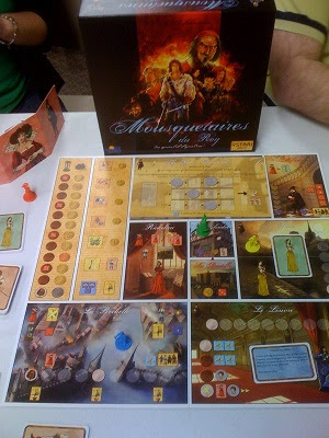 Mousquetaires du Roy board game in play