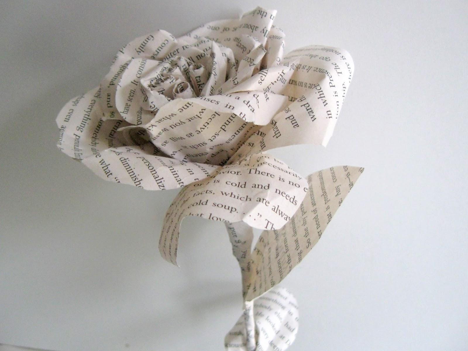 Как плести цветы, розы из газет своими руками 15