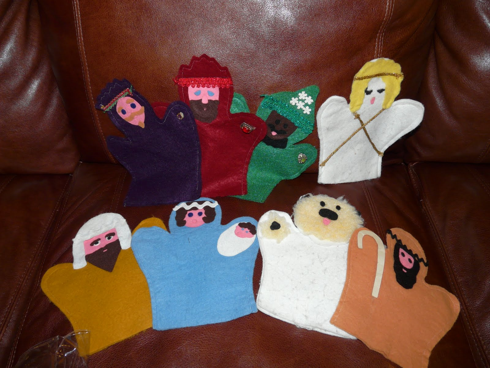 The Quot Secret Quot Is Gratitude Homemade Nativity Puppets From