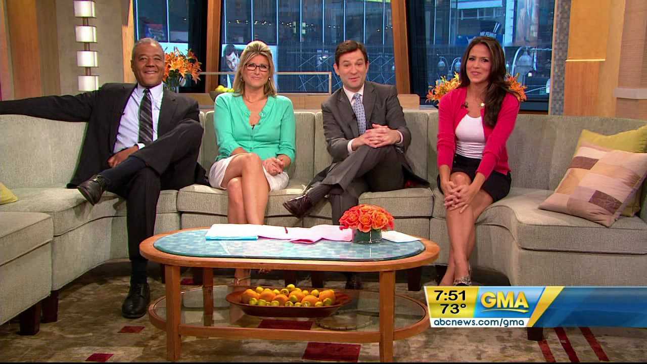 Good Morning America Sunday Edition : Marysol castro sexy on gma leg cross