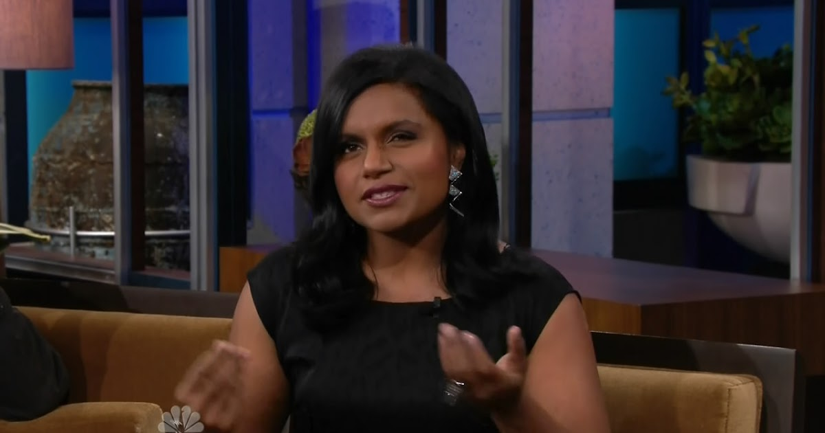 Mindy Kaling Pictures From Leno Sexy Leg Cross